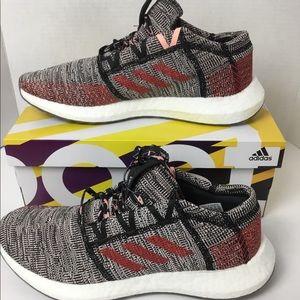 Adidas Originals GO Pure Boost Black Red Pink 11
